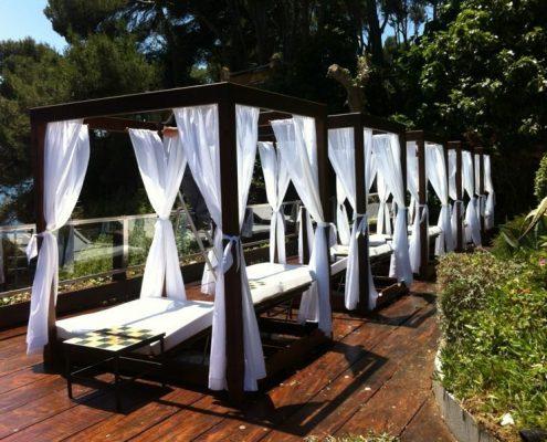 Colchonetas y cortinas exterior