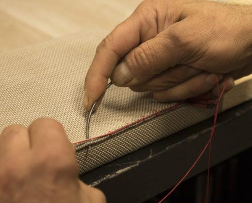 cosido manual tapizado