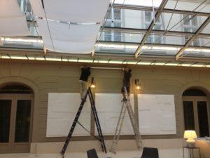 instalacion toldo hotel