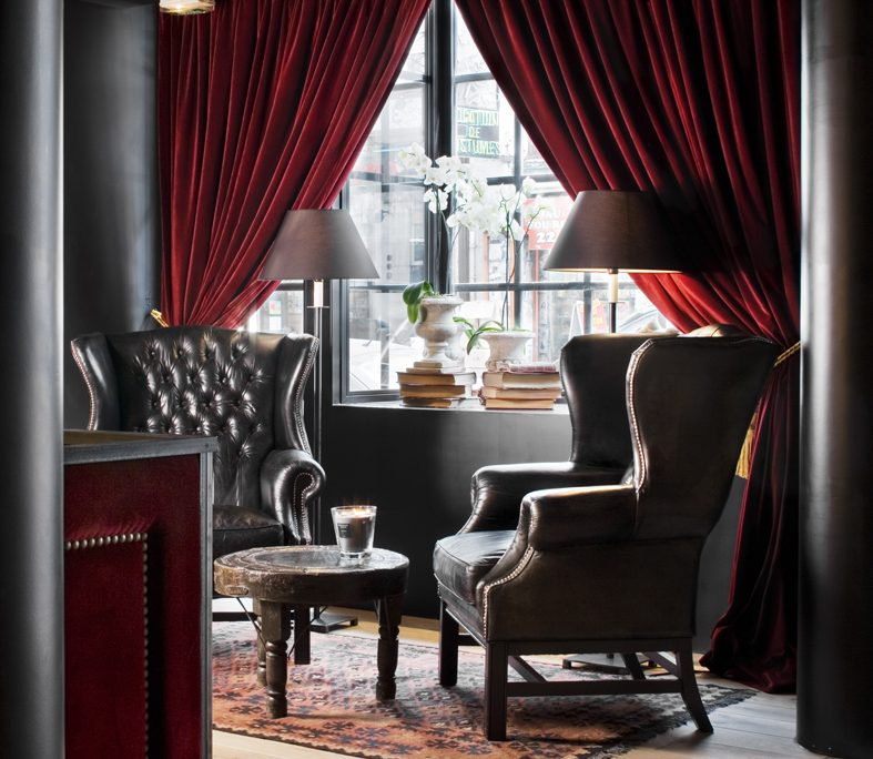 Cortinas zonas comunes Hotel Pulitzer Paris