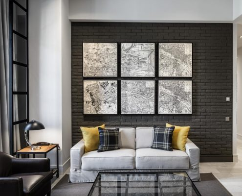 Tejidos contract Midtown Apartments Barcelona - Salón