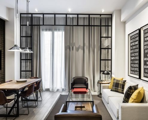 Cortina oscurecedora Midtown Apartments Barcelona - Salón