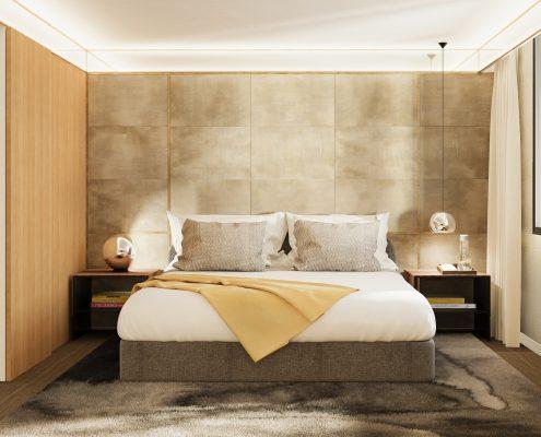 Cortinas domotizadas Hotel Almanac Barcelona - Habitación
