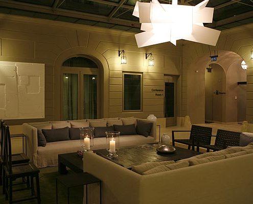 Complementos textiles Recepción hotel