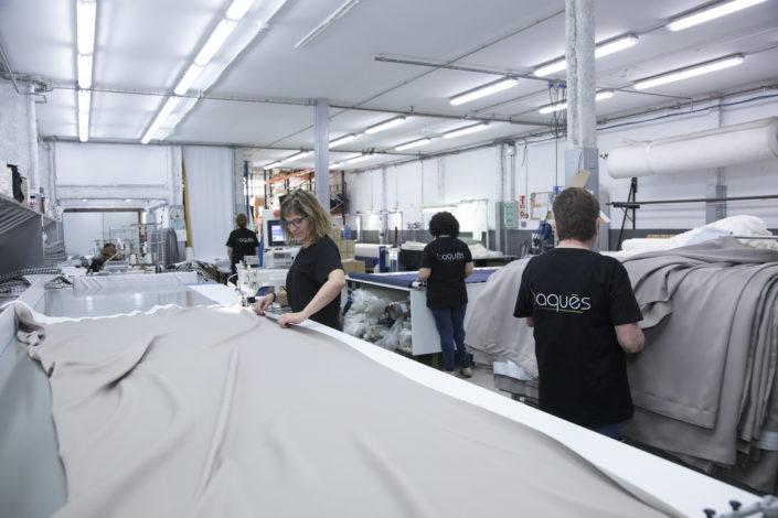 taller confección cortinas baques